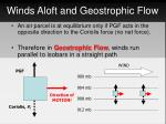 winds aloft and geostrophic flow1