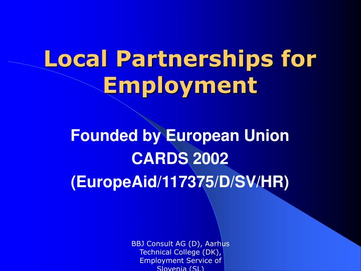 local partnerships for employment n.