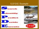 s i p d e example