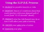 using the s i p d e process