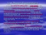 lab report expectations