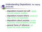 understanding dispositions the helping personality