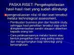 p aska riset pengeksploitasian hasil hasil riset yang sudah dilindungi