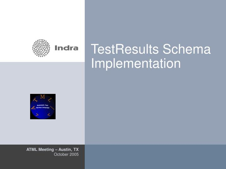 testresults schema implementation n.