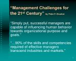 management challenges for the 21 st century by peter f drucker