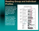 reading group and individual profiles4