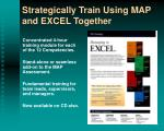 strategically train using map and excel together