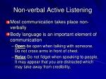 non verbal active listening