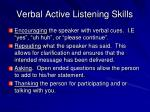 verbal active listening skills