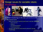 design issues for sociable robots morphology