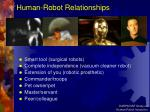 human robot relationships