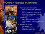 humans in hazardous environments