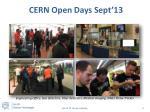 cern open days sept 13