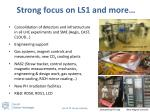 strong focus on ls1 and more