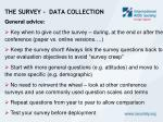 the survey data collection