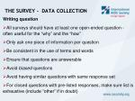 the survey data collection3