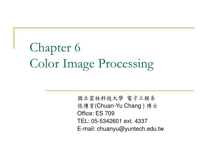 chapter 6 color image processing n.