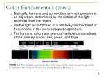 color fundamentals cont