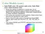 color models cont2