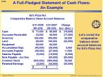 a full fledged statement of cash flows an example