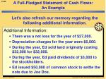 a full fledged statement of cash flows an example1