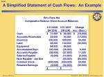 a simplified statement of cash flows an example