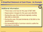 a simplified statement of cash flows an example1