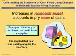 constructing the statement of cash flows using changes in noncash balance sheet accounts2