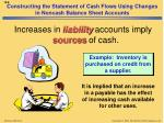 constructing the statement of cash flows using changes in noncash balance sheet accounts3