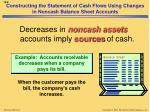 constructing the statement of cash flows using changes in noncash balance sheet accounts4