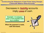 constructing the statement of cash flows using changes in noncash balance sheet accounts5