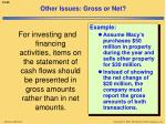 other issues gross or net