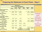 preparing the statement of cash flows step 6