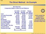 the direct method an example