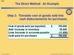 the direct method an example3