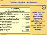 the direct method an example5