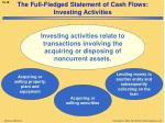 the full fledged statement of cash flows investing activities