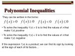 polynomial inequalities1