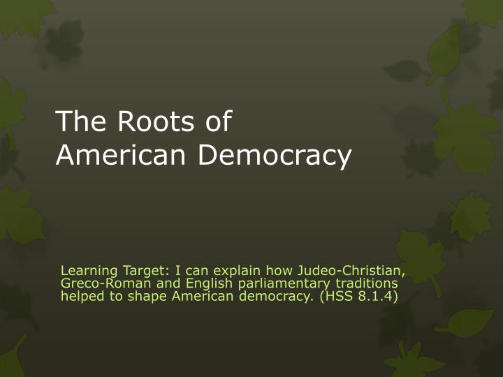 the roots of american democracy n.