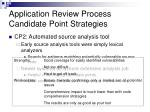 application review process candidate point strategies1