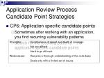 application review process candidate point strategies5