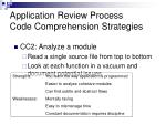 application review process code comprehension strategies1