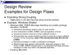design review examples for design flaws