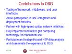 contributions to osg