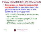 primary goals of dosar and achievements2