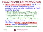 primary goals of dosar and achievements3