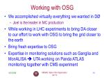 working with osg