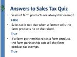 answers to sales tax quiz