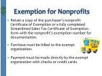 exemption for nonprofits1