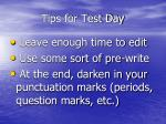 tips for test day1